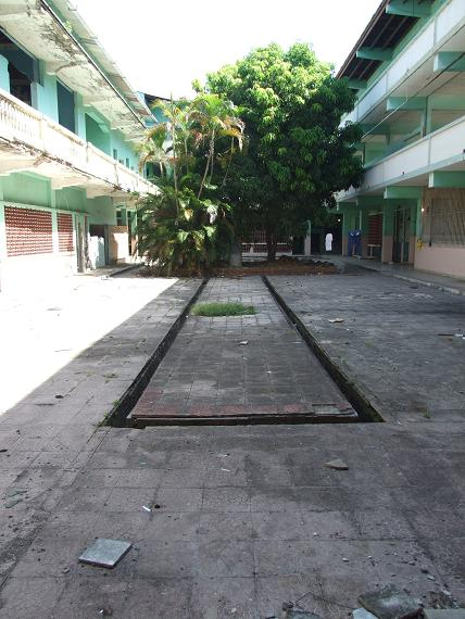 Santa familia internal courtyard, soon to be nursery, Casco Viejo, Panama