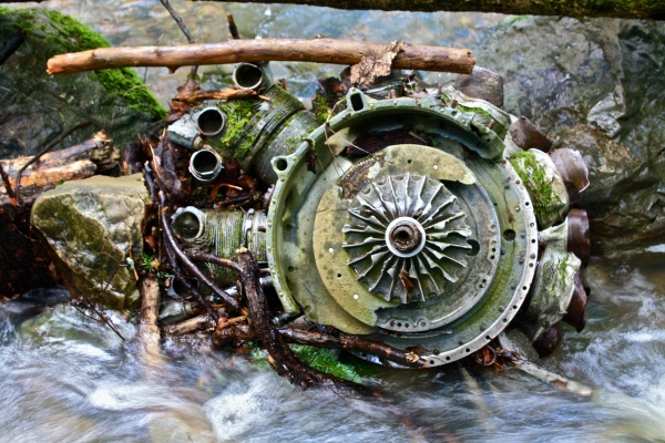 Radial engine, Mt. Tam