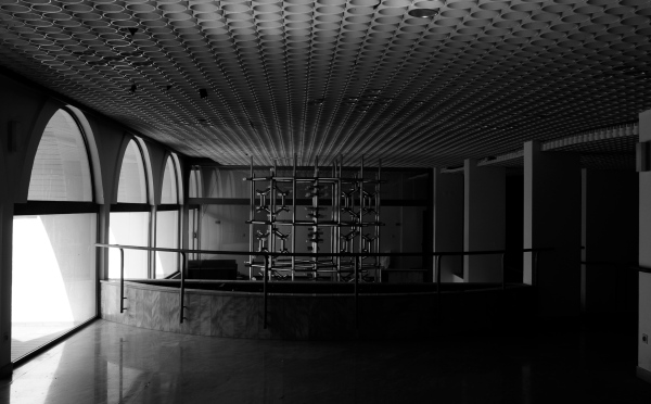Abandoned hotel, windows, montenegro, chandeliers