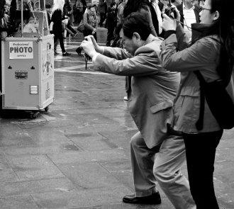 Off all the photos I took of people taking photos I like this man's stance the most.