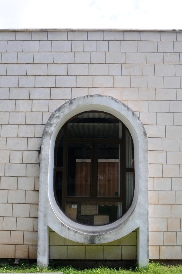 Abandoned hotel window, Montenegro