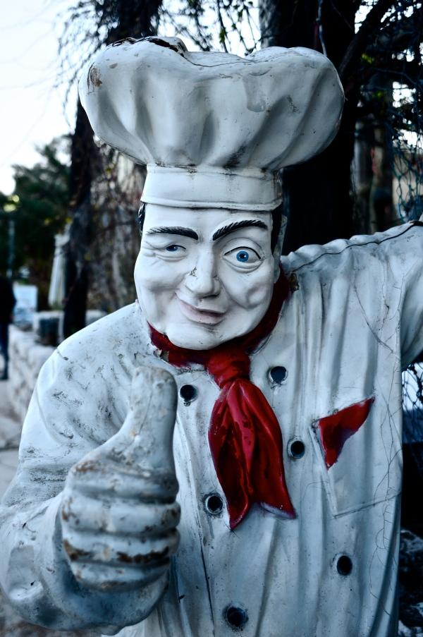 Weird welcome sculpture, Montenegro