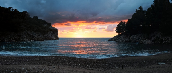 Queen's beach panorama, Montenegro