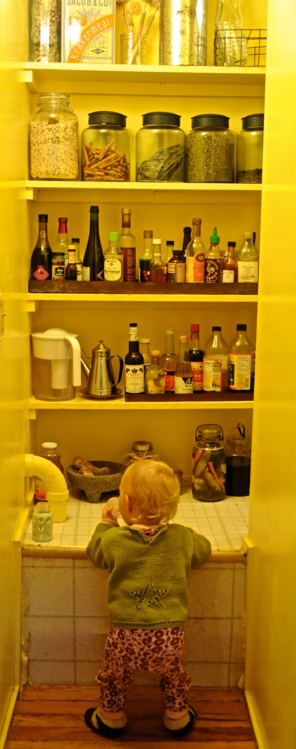 baby finds pantry